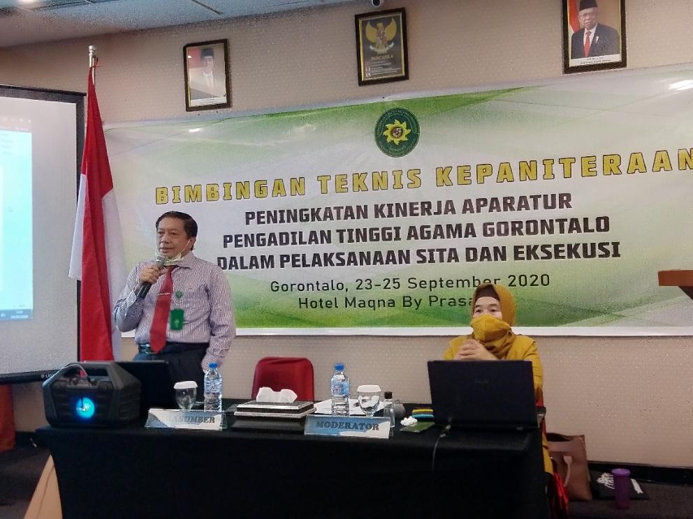 Sita Dan Eksekusi Dalam Action Menjadi Tema Bintek PTA Gorontalo Tahun 2020 | (24/9)